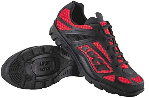 LUCK Zapatillas de Ciclismo Predator 18.0,con Suela de EVA Ideal para Poder adaptarte a Cualquier Terreno y disciplina Deportiva. (39 EU, Rojo)