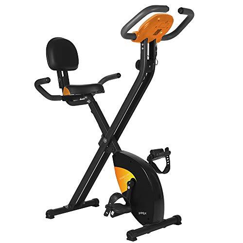 gridinlux. Trainer X-Bike 500. Bicicleta estática Magnética Plegable, Doble Agarre, Pulsómetro,...*
