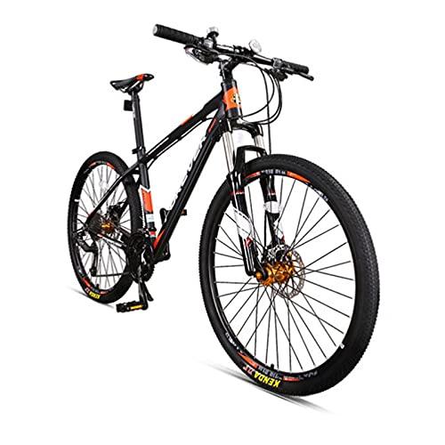 Bicicleta de montaña, 27.5 Pulgadas 30 Velocidades Bicicleta De Montaña, Hombres Bicicleta Lockable Suspensión Tenedor Compución Bicicleta Aluminio Aleación Marco Doble Disco Freno De Fren(Color:rojo)