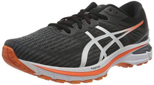 Asics GT-2000 9, Road Running Shoe Hombre, Black/White, 42.5 EU