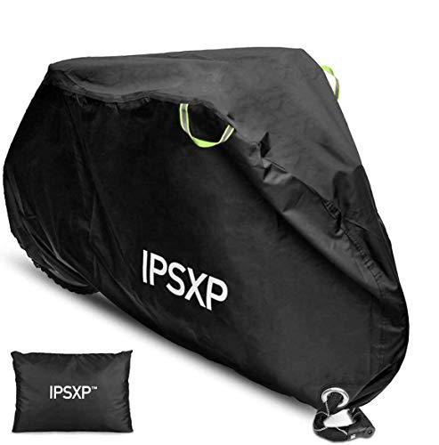 IPSXP Funda para Bicicleta, Funda de Protección Bicicleta con Agujero,Puede Proteger Las Bicicletas del Sol y la Lluvia(208 x 112 x 76 cm),Funda para Bicicleta Que Puede acomodar 2 Bicicletas