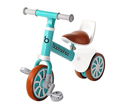 Zeroall 2 en 1 Bicicleta sin Pedales Bicicleta de Equilibrio con Pedales Desmontables,Bebes...*