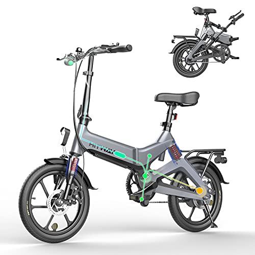 HITWAY Bicicleta eléctrica GEARSTONE, Ligera, 250 W, Plegable, eléctrica, con Asistencia de Pedal,...*