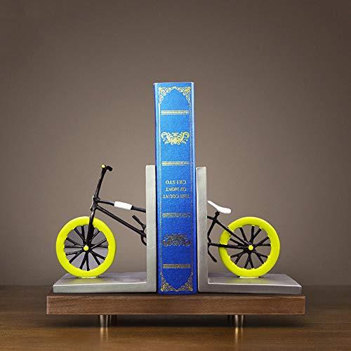 DAMAI STORE Asiento De Revista De Estantería De Bicicleta Creativa por Artesanías De Resina, Sala De Estar De Oficina En Casa Creativa, Adornos De Arte De Estudio De Sala De Modelo (27.5 * 7 * 16 Cm)