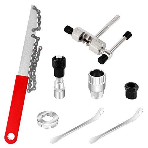 8Pcs Kit de Reparación de Bicicletas, Juego de Herramientas de Reparación de Bicicleta,...*
