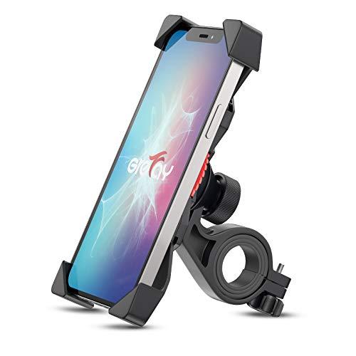 Grefay Soporte Movil Bicicleta Soporte Universal Manillar Motocicleta para 3.5'-6.5' Smartphones con Rotación 360°