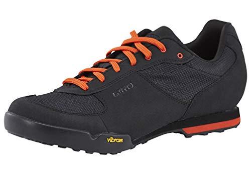 Giro Rumble Vr Mtb Zapatos de Bicicleta de montaña Hombre, Multicolor (Black/Glowing Red 000), 44...*