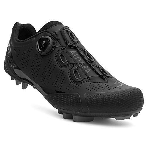 Spiuk Sportline MTB C Zapatilla XC ALDAPA Carbono, Adultos Unisex, Negro Mate, T. 39*