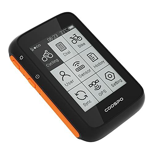 COOSPO Ordenador de Bicicleta GPS Inalámbrico Bluetooth 5.0 y Ant + Ciclocomputador Automática...*