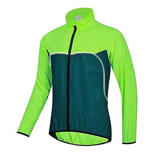 SZTC Chubasquero Reflectante Ligero y Transpirable de Verano MTB Jersey con Bolsillos Ropa de Ciclismo Chaqueta de Ciclismo Hombres Mujeres Chaqueta Impermeable a Prueba de Viento