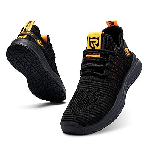 LARNMERN PLUS Asfalto Zapatillas Hombre Antideslizante Sneakers Amarillo 40*
