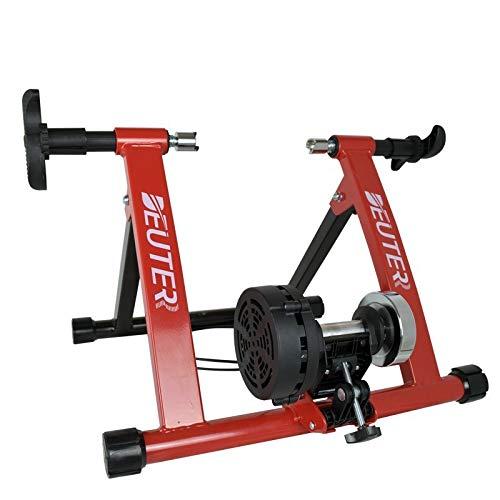 Riscko Rodillo Bicicleta Negro con Cable para Ajuste de Resistencia Magnética. Ciclismo Indoor.