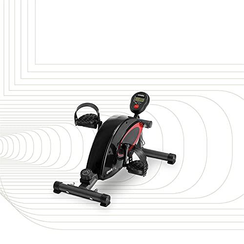 SportPlus minibicicleta estática, ordenador de entrenamiento, sistema de freno magnético, alta calidad y silencioso, 8 niveles de resistencia, entrenador de piernas, homologado, SP-HT-0001