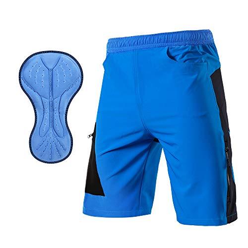 TOM SHOO Pantalones Cortos de MTB, Pantalones Cortos de Ciclismo para Hombre con Acolchados en 3D y...*