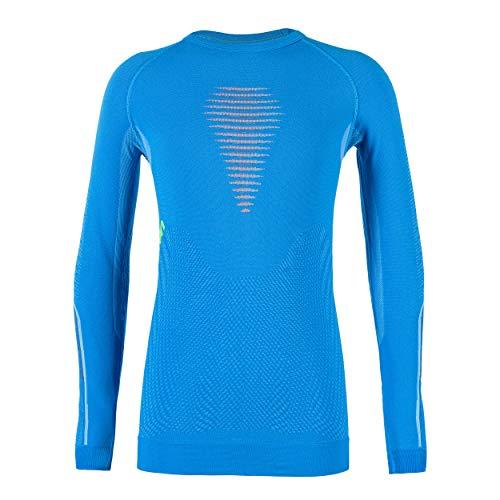 UYN Visyon - Camiseta Interior térmica Unisex para niños, Unisex niños, U100061, Cyan Blue/Orange...*