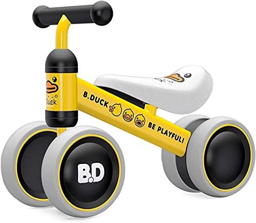 YGJT Bicicleta sin Pedales para Bebe de 1 Año, Juguete para Niños de 10 a 24 Meses, Correpasillos Juguetes Bebes, Excelente Regalo para Cumpleaños, Pato Amarillo