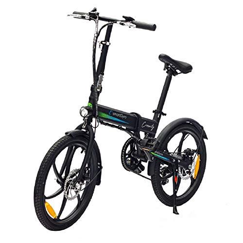 SMARTGYRO Ebike Crosscity Black - Bicicleta Eléctrica Urbana, Ruedas de 20