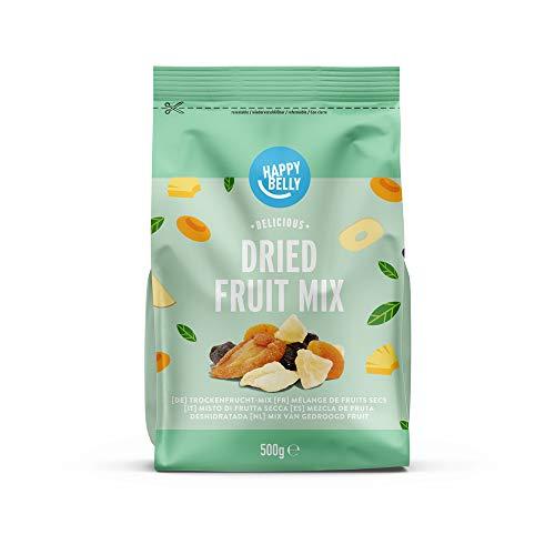 Marca Amazon - Happy Belly Mezcla de frutas deshidratada, 500 g*