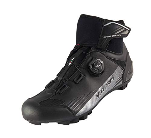 Vittoria srl Polar MTB, Zapatillas de Ciclismo Unisex Adulto, Negro, 43 EU*