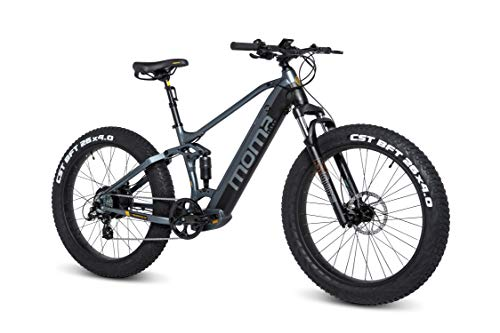 Moma Bikes E-MTB, FATBIKE 26 pulgadas PRO, Equipped Full SHIMANO, Frenos de disco hidráulicos,...*