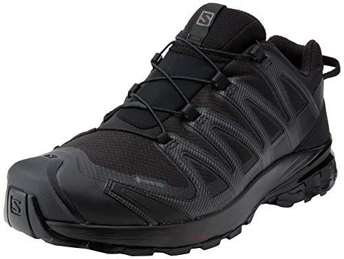 Salomon XA Pro 3D V8 GTX, Zapatillas De Trail Running Y Sanderismo Impermeables Versión Màs Ligera Hombre, Color: Negro (Black/Black/Black), 42 EU