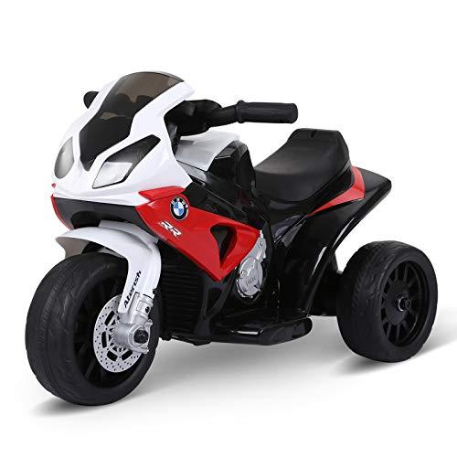 HOMCOM Moto Eléctrica Infantil con Licencia BMW S1000RR Triciclo Trimoto para Niños +2 Años con...*