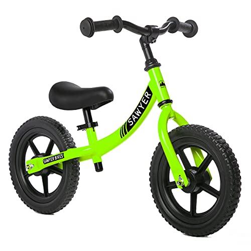 Sawyer - Bicicleta Sin Pedales Ultraligera - Niños 2, 3, 4 y 5 Años (Verde)*
