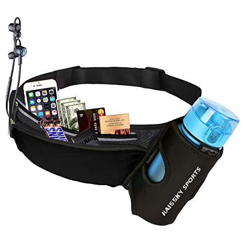 Riñonera Deportivo Cinturón Running Belt con Botella Agua Bolsa Impermeable, Conveniente para...*