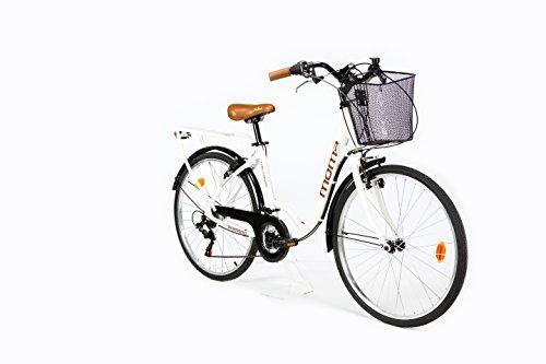 Moma Bikes City Classic 26'- Bicicleta Paseo, Aluminio , Cambio Shimano TZ-50 18 vel., Blanco