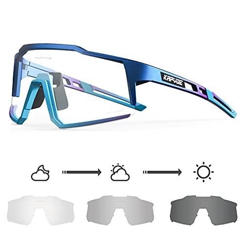KAPVOE Gafas de Ciclismo Fotocromáticas con TR90 Gafas de Sol Deportivas Mujeres Hombres Running...*