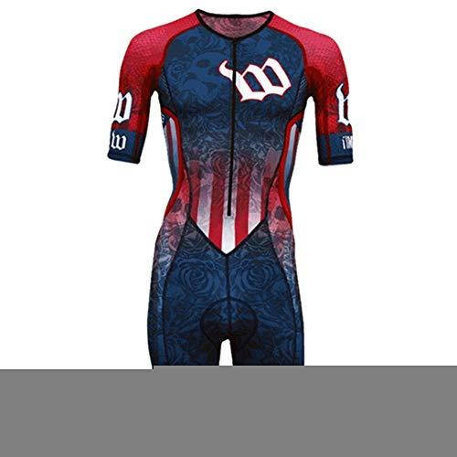 NHGFP QPM Jersey De Triatlón Skinsuit Vestimenta De Ciclismo Salpicaduras Hombre En Bicicleta Conjunto De Cuerpo Juego De Los Deportes De Velocidad MTB Mono (Color : 1, Size : 5XL)