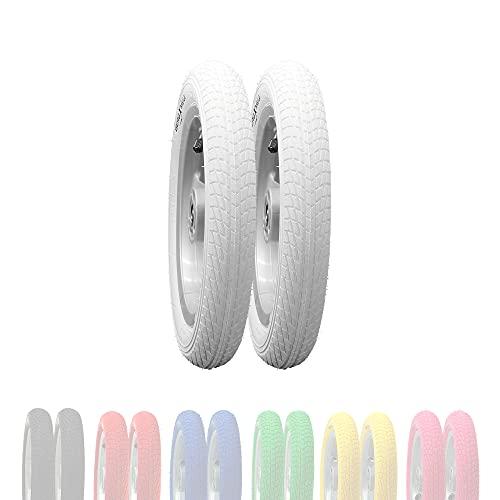 BERGMEILE   2X neumáticos de 12 Pulgadas (57-203) en Blanco   neumáticos Blancos para niños de 12...*