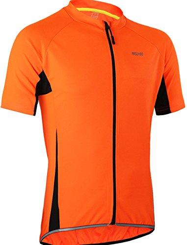 Maillot de ciclismo de manga corta para hombre, transpirable, con cremallera, secado rápido, para...*