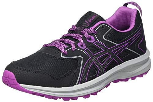 Asics Scout, Trail Running Shoe Mujer, Black/Digital Grape, 39 EU