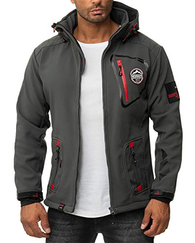 Geographical Norway Chaqueta Softshell para hombre. Gris oscuro. XXXL