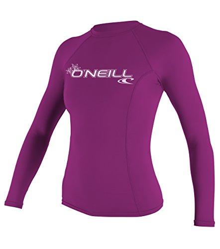 O'Neill Wetsuits Mujer Basic Skins Manga Larga, Mujer, O'Neill - Set de protección Solar UV para Mujer (Talla M), Color Rosa, 3549-173, Fox Rosa, M