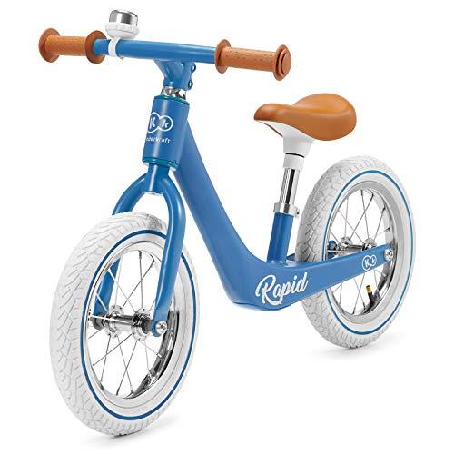Kinderkraft Bicicleta sin Pedales RAPID, Sólida, Ajustable, Retro, Azul*