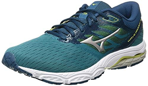 Mizuno Wave Prodigy 3, Zapatillas para Correr de Carretera Hombre, Hblue Gsilver Eprimrose, 43 EU*
