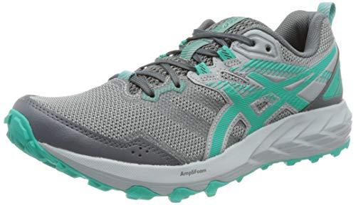 Asics Gel-Sonoma 6, Trail Running Shoe Mujer, Carrier Grey/Baltic Jewel, 39 EU