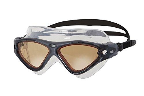 Zoggs Tri-Vision Gafas de Natación, Hombre, Negro, Talla Única