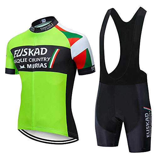 STEPANZU Maillot Ciclismo Hombre Corta Ropa Ciclismo + Culote con 3D Almohadilla de Gel para Bicicleta Montaña Conjunto Ciclismo Deportivo