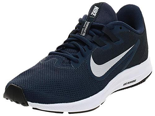 Nike Downshifter 9, Zapatillas de Running para Asfalto Hombre, Multicolor (Midnight Navy/Pure Platinum 401), 43 EU