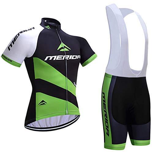 Maillot Ciclismo y Culotte Ciclismo con 5D Gel Pad para Verano,Hombre Conjunto Ropa de Ciclismo para...*