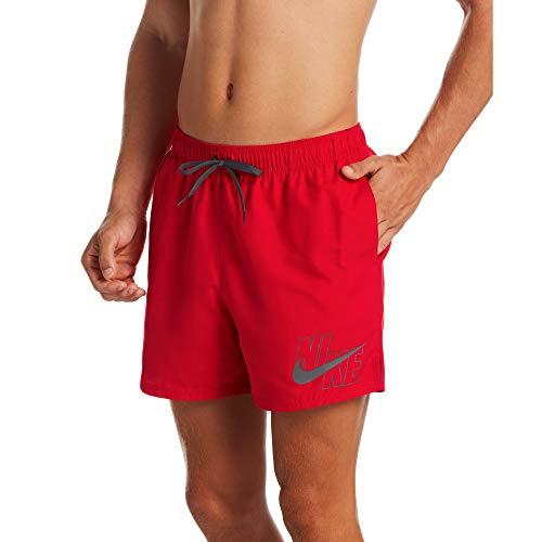 NIKE 5 Volley Short Bañador, Hombre, University Red, L