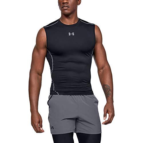Under Armour UA HeatGear ARMOUR Sleeveless, Camiseta Sin Mangas Hombre, Negro (Black/Steel 001), M*
