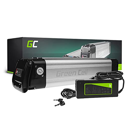 Green Cell GC® Bateria Bicicleta Electrica 24V 8.8Ah Silverfish Li-Ion E-Bike Batería y Cargador