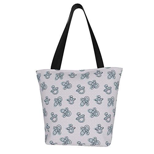 Bolso de lona casual para mujer, con patrón de chubasquero, para la compra, bolso de la compra.*