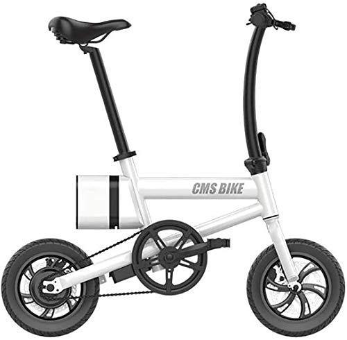 GYL Bicicleta eléctrica City Bike Scooter Bicicleta plegable 12 pulgadas 36V Coche eléctrico de aleación de aluminio con batería de litio de 6Ah Indicador de energía Bicicleta de freno de disco doble