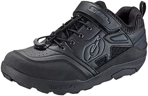 O'NEAL | Zapatos de Ciclismo | Mountainbike MTB DH FR Downhill Freeride | excelente Agarre, Suela SPD, Sistema de Enganche rápido, Transpirable | Zapatos Traverse SPD | Adultos | Negro | Talla 37