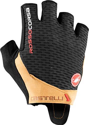 CASTELLI 4521024-120 Rojo Corsa Pro V Glove Guantes Ciclismo Hombre Negro/Tan S